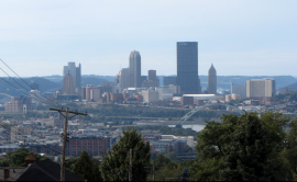 View of downtown Pittsburgh from Greenfield